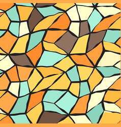 Retro mosaic pattern seamless vintage background vector