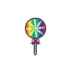 round lollipop candy design vector image