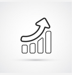 sales grow flat line trendy icon eps10 vector image