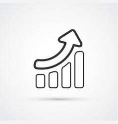 sales grow flat line trendy icon eps10 vector image