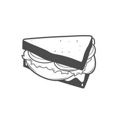 Sandwich line art icon vector