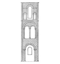 Saxon architecture comprehends all english vector