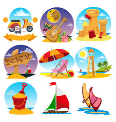 Set of color on the theme of summer vector