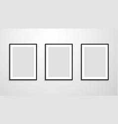set realistic black frame vector image