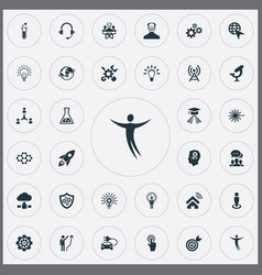 Set simple creative icons vector