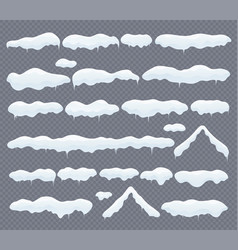 snow caps snowdrifts and icicles winter vector image
