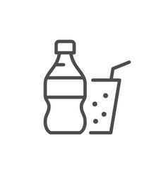 soda line icon vector image