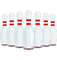 Ten Pins vector image