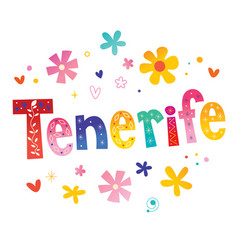 Tenerife island in spain vector