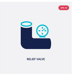 Two color relief valve icon from construction vector