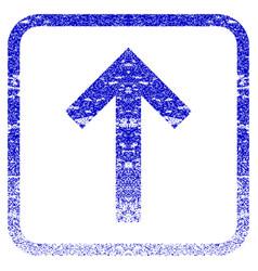 Up arrow framed textured icon vector