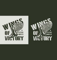 vintage army monochrome badge vector image