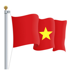 waving vietnam flag isolated on a white background vector image