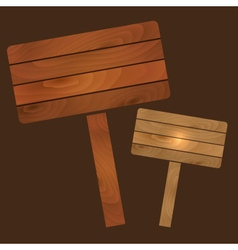 Wooden plates signs boards with texture eps10 vector