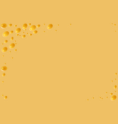 yellow cheese background vector image