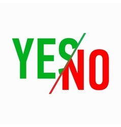 Yes or No icon simple style vector image