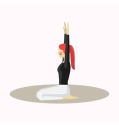 Yoga pose woman silhouette vector