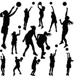 basketball woman player vector image vector image