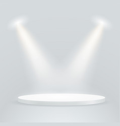 Bright stage with projectors layout vector