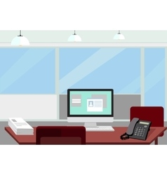 Interior office room for vector image vector image