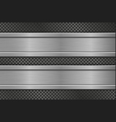 metal perforated texture with horizontal iron vector image vector image