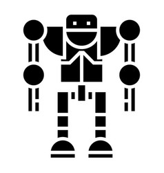 Robot - droid icon black vector