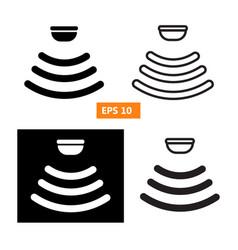 set of sensor waves signal icon vector image vector image