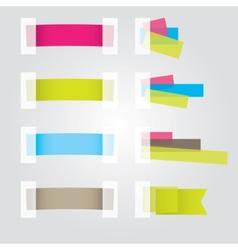 web page sticker vector image vector image
