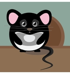Abstract cute gray sad mouse Nice character for vector image vector image