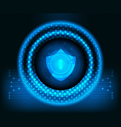 abstract cyber secutiry technology background vector image