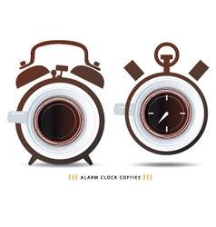 Alarm clock coffiee vector
