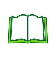book sign lemon scribble icon on white vector image