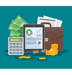 Business and finance concept vector image