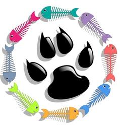 Cat food vector image