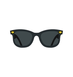 Dark glasses icon flat style vector image vector image