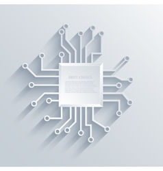 modern circuit board background vector image