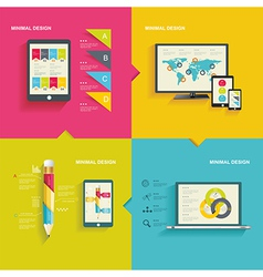Modern infographic or webdesign concept vector image vector image