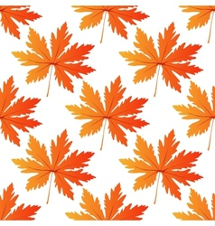 Pretty colorful autumn leaf seamless pattern vector image vector image