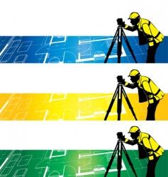 surveyor vector image vector image