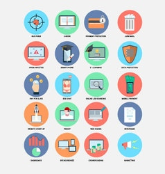 Internet trend flat design icons vector image vector image