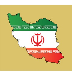 Iran Map Flag vector image vector image