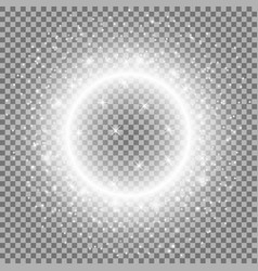 light ring with stardust white color vector image vector image