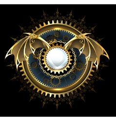 Mechanical Dragon Wings with a Lens vector image vector image