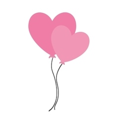 balloons air heart isolated icon vector image