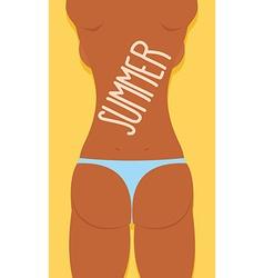 Bikini Sexy Girl Ass in panties Summer vector image