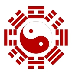 Feng shui compass sign vector