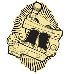 machine tattoo vector image vector image