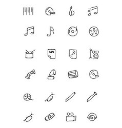 Music Hand Drawn Doodle Icons 2 vector image
