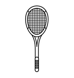 tennis racket equipment image outline vector image vector image