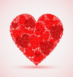 Valentine abstract red mosaic heart vector image vector image